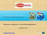 Concrete Block Making Machine Manufacturers