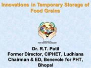 Innovations Temporary Storage of food grains-CIPHET