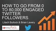 How to go from 0 to 80,000 engaged Twitter Followers