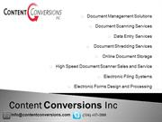 Document Management Solutions, Data Entry, Document Scanning Services