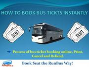 How To Book Bus Tickets Instantly | runBus.in