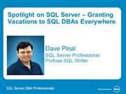 Review of Spotlight on SQL Server - Dell SQL Server Processes