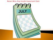 Never Miss Important Date