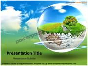 Global Ecology Powerpoint Template - templatesforpowerpoint.com/