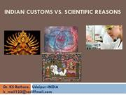 Indian Customs Vs Scientific Reasons