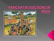 PANCHAYAT ELECTIONS IN INDIA PPT