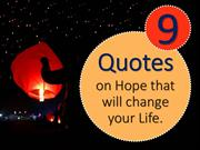 9 Quotes on Hope!