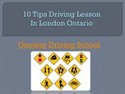 Driving lesson in London Ontario-Oneway driving school