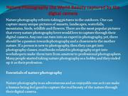 Nature Photography the World Beauty captured by the digital camera