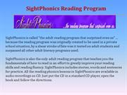 SightPhonics Reading Program