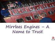 Mirrlees Engines – A Name to Trust