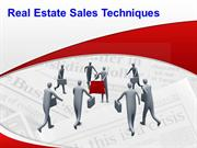 Real Estate Sales Techniques