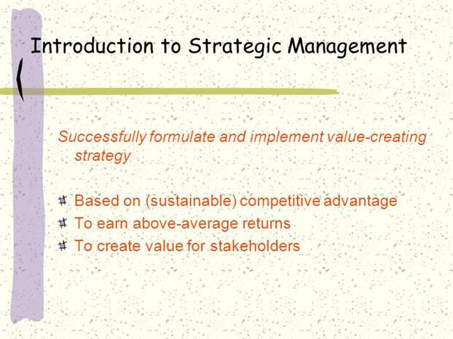 concept of strategic management pdf