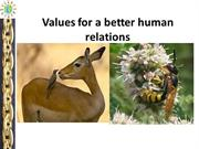 Better values for human relations, Prof.K.S.Jayashree, M.D(Ayu)