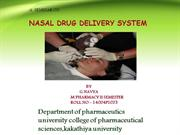 nasal drug delivery NAVYA