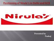 Positioning of Nirula's in Delhi and NCR