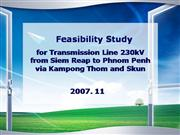 Feasibility Study for Transmission Line