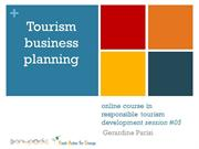 tourism business planning-