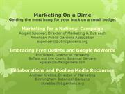 Marketing & Media Relations_On A Dime, Getting The Most Bang For Your