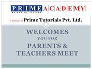 Prime Academy Pune - PTM IIT2015 may 2014