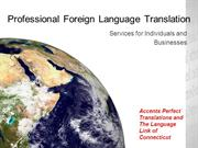 Professional Foreign Language Translation