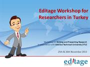 Editage Workshop for Researchers in Turkey