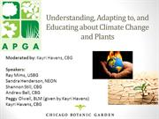 Conservation_Understanding, Adapting To, and Educating About Climate C