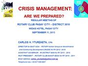Crisis Management-Are we prepared for it