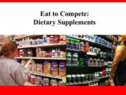 Eat to Compete Dietary Supplements