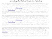 Janine Zargar The Missionary Health Care Professional