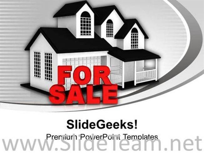 house for sale real estate powerpoint template image powerpoint template