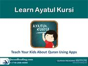 Learn Ayatul Kursi word by word using Smart apps