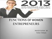 functions of women entrepreneur