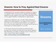 Prayer to Cancel Bad Dreams and Nightmares