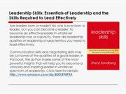 Leadership Skills: Essentials Skills Required to Lead Effectively