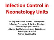 Infect ion Control in Neonatology PP