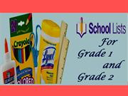 School Lists for Grade 1 & Grade 2
