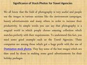 Significance of Stock Photos for Travel Agencies