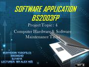 Software Application - Computer Hardware and Software Application