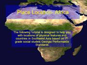 Africa-The Place