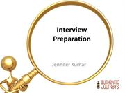 Interview Preparation- For Upload