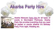 Akarba marquee hire