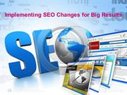 SEO Changes for Big Results - SEO Services Hyderabad