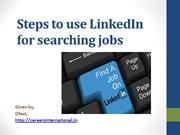 Steps to use LinkedIn for searching jobs
