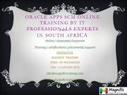 Oracle Apps scm Online Training by iT professionals experts in south a