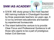 SNM IAS Academy: IAS Mains Test Series