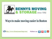 Ways to make moving easier in Boston