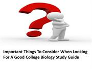 Important Things To Consider When Looking For A Good College Biology S