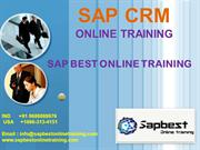 6 SAP CRM ONLINE TRAINING