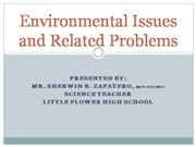 Environmental Issues and Related Problem